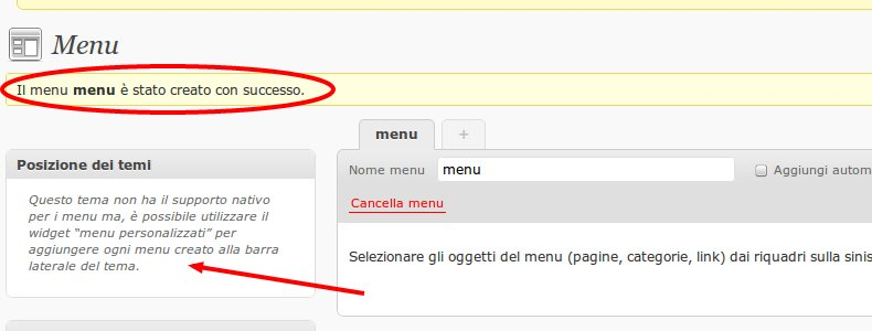 menu wordpress widget Come abilitare e creare un menu personalizzato dropdown