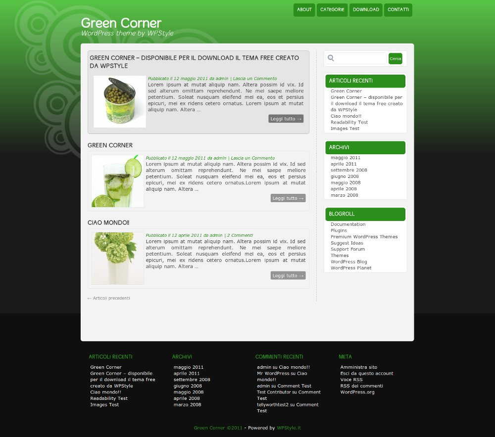 green-corner-theme-wordpress